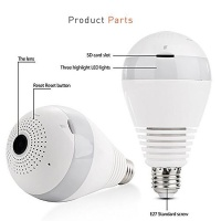 raz tech light bulb with camera vrcam 1080p 360 wide angle