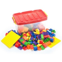 Greenbean Multi Coloured Building Blocks Set with Play Board 73 Pieces