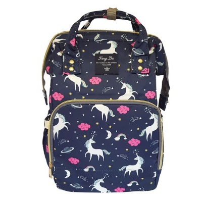 Backpack Nappy Bag Unicorn Navy
