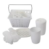 bathroom accessories set in basket 5 piece bathroom accessory