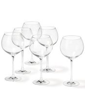 Leonardo Burgundy Glass Red Wine or Gin Goblet Cheers 750ml Set of 6