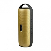 intopic gold cylindrical shape multifunctional bt speaker home audio stereo
