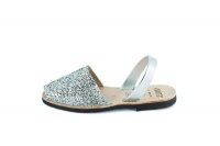 glitter silver spanish sandals shoe