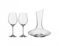 Leonardo Red Wine Decanter Glasses BARCELONA Set 3 Pieces