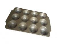 12 cavity muffin baking pan golden 37cmx26cmx3cm hob