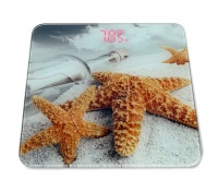 sea theme picture digital bathroom scale with lcd display bathroom accessory