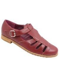 ladies fashion sandal burgundy shoe