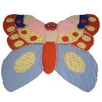 butterfly flannel rag quilt duvet
