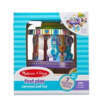 melissa and doug carousel pull toy walker