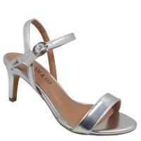 ladies evening sandal silver shoe
