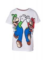 JINX Nintendo Mario Luigi Boys Tshirt White