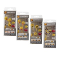emoji assorted 4 pack headphones earphone