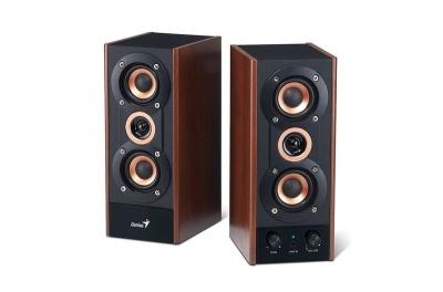 Photo of Genius HF800A - 2.0 Channel 3 Way Hi Fi Wood Speakers - 20W