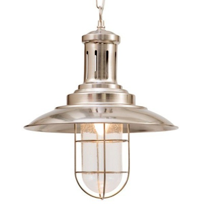 Photo of The Lighting Warehouse - Pendant Fisherman Caged 21479 Satin Silver