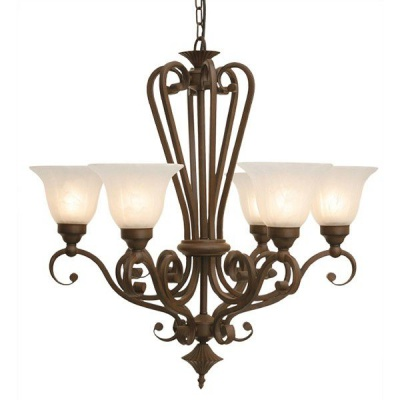 Photo of The Lighting Warehouse - Chandelier Wrought Iron Carina 6