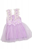 lacey flower dress purple