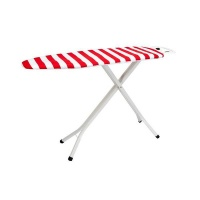 Retractaline Premium Steel Mesh Top Ironing Board Red White