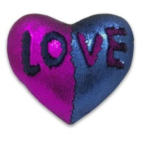 heart shaped mermaid colour changing sequin pillow royal cushion