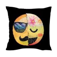 emoji changing mermaid sequin cushion pillow gentleman and cushion