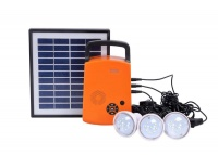 home solar led lighting system with radio