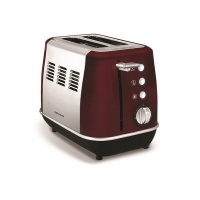 Morphy Richards Toaster 2 Slice Stainless Steel Red 900W Evoke