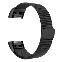 zonabel fitbit charge 2 milanese strap black small