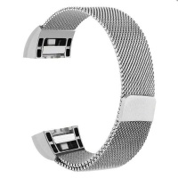 zonabel fitbit charge 2 milanese strap silver small