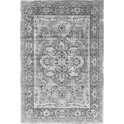 Waltex Area Rug Stressed Medalion Charcoal