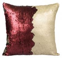 mermaid colour changing sequin cushion pillow matte beige cushion