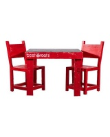 beetroot inc kiddies blackboard table and chairs red entertainment center