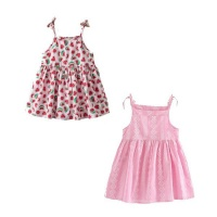 girl sun dress strappy 2 set pink 18 24 months