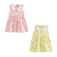 girl sun dress set of 2 pinkyellow 3 5 years