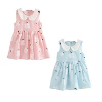 girl sun dress set of 2 pinkblue 3 5 years
