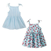 girl sun dress strappy 2 set blue 3 5 years