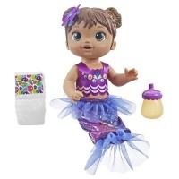 baby alive shimmer n splash mermaid brown hair water toy