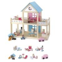 wooden dollhouse dollhouse doll