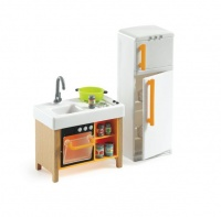 djeco dollhouse compact kitchen dollhouse doll