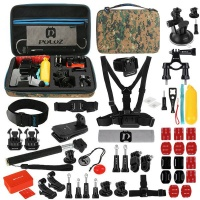 puluz 53 in 1 accesory and mount combo for gopro with camo kit