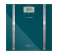 taurus bathroom scale battery operated glass teal 180kg 3v bathroom accessory