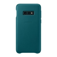 Samsung Galaxy S10e Leather Cover Green