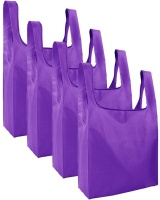 Gretmol Reusable Grocery Bags 4 Pack Foldable Shopping Tote Bag