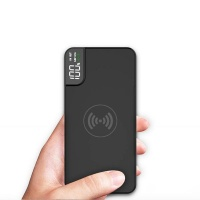 10000mah wireless fast charging power banks with led