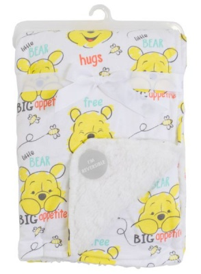 Photo of Winnie the Pooh Sherpa Soft Reversible Blanket