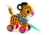 djeco pull along greta the leopard walker