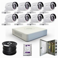hikvision 1080p hd 8 channel complete kit
