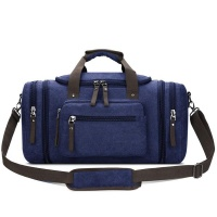 large canvas travel luggage mens weekender duffle bag blue backpack