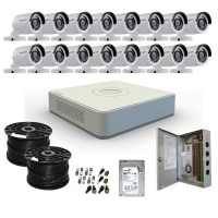 hikvision 16 channel 1080p hd cctv system complete