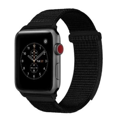 Apple Linxure Nylon Watch Band Black 38mm