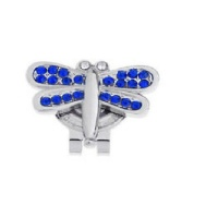blue dragonfly cap hat clip accessory