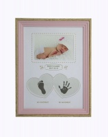 baby keepsake frame pink